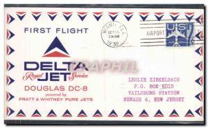 Lettre Etats Unis 1st Flight Douglas DC 8 Miami Newark 15 10 1959