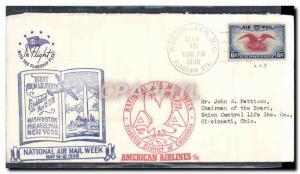 Lettre Etats Unis National Air Week 15 5 1938 Washington