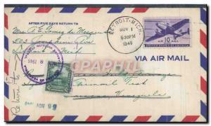 Lettre Etats Unis Detroit to Venezuela 1 11 1946