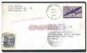 Lettre Etats Unis Washington to Colombia 1 11 1946