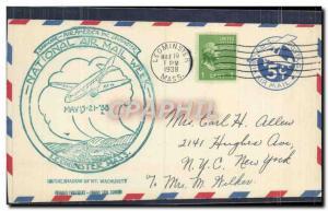 Lettre Etats Unis National Air Ail Week Leominster Mass 19 5 1938