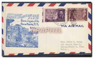 ettre Etats Unis San Juan New York 27 3 1951