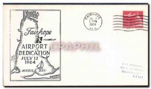Lettre Etats Unis Fairhope Airport Dedication 12 7 1964