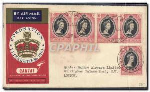 Lettre New Hebrides Qantas 1953