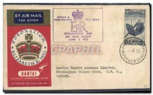 Lettre Qantas Papua & New Guinea 2 6 1953