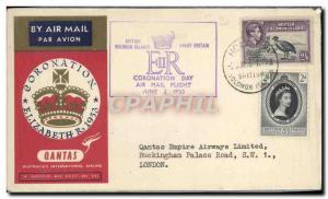 Lettre Qantas British Salomon Islands 2 6 1953