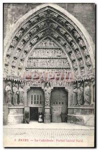 Ansichtskarte AK Reims La Cathedrale Portail lateral Nord