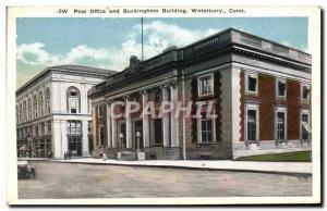 Ansichtskarte AK Post Office and Buckingham Building Waterbury Conn