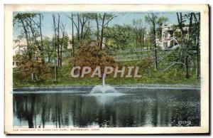 Ansichtskarte AK The Fountain In Hamilton park Waterbury Conn