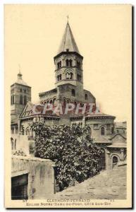Ansichtskarte AK Clermont Ferrand Eglise Notre Dame Du Port Cote Sud Est