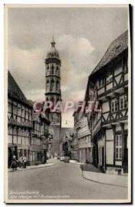 Ansichtskarte AK Braunschweig Alte Waage Mit Andreaskirche