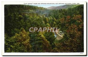 Ansichtskarte AK The Gorge From Hot Springs Mountain Hot Springs National Park Ark