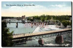 Ansichtskarte AK The Kennebec River At Waterville Me