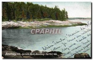 Ansichtskarte AK Boothbay Me Spruce Point Boothbay Harbour Me