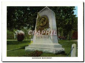 Moderne Karte Sheridan Monument Rough Riders monument