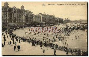 Ansichtskarte AK Ostende Vue Generale de la Digue vers le chalet royal
