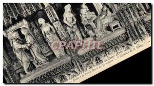 Ansichtskarte AK Cathedrale De Chartres Pourtour Du Choeur Rencontre de Saint Joachim et Sainte Anne a la Porte D