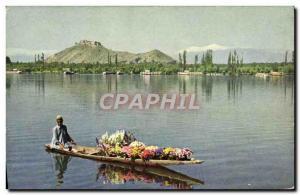 Moderne Karte Dal Lake Srinagar Kashmir
