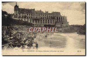 Ansichtskarte AK Biarritz Le Casino Belleuve et Coucher du Soleil