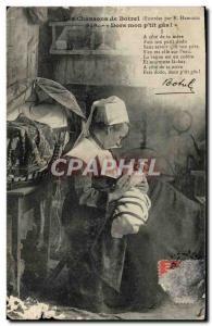 Ansichtskarte AK Les Chansons De Botrel Dors Mon P'tit Gas Folklore