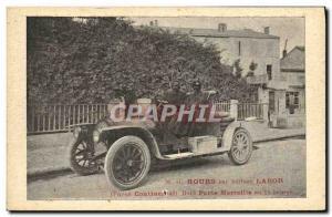 Ansichtskarte AK Automobile M G Hours sur voiture Labor Pneus Continental Raid Marseille en 15 heures