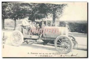 Ansichtskarte AK Automobile A Fournier sur sa 125 chevaux Hotchkiss