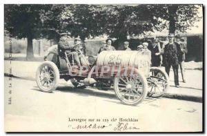 Ansichtskarte AK Automobile Lavergne sur sa 125 chevaux Hotchkiss