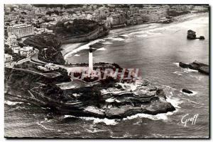Moderne Karte Biarritz Vue Aerienne Le Phare les Falaises