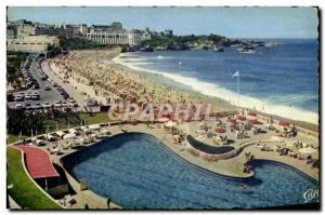 Moderne Karte Biarritz La Grande Plage Et Le Casino Bellevue