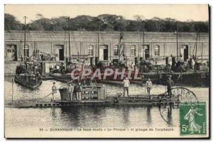 Ansichtskarte AK Bateau Sous marin Dunkerque Sous marin Le phoque et groupe de torpilleurs