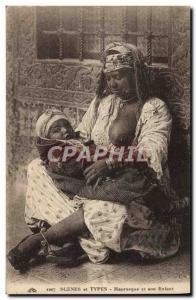 Ansichtskarte AK Beaute orientale Mauresque et son enfant