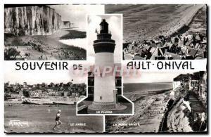 Moderne Karte Ault Onival Les falaises Le sable La plage en ete