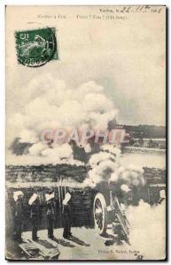 Ansichtskarte AK Militaria Ecoles a feu Piece Feu