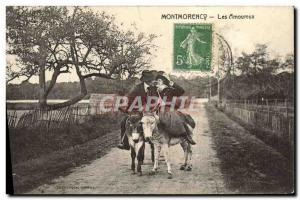 Ansichtskarte AK Ane Mule Montmorency Les amoureux