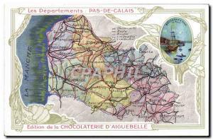 Ansichtskarte AK Cartes geographiques Chocolaterie d'Aiguebelle Pas de Calais Boulogne sur Mer Bateau
