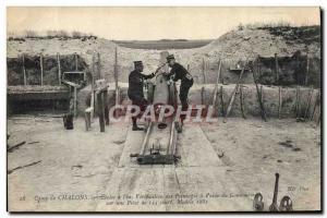 Ansichtskarte AK Militaria Camp de Chalons Ecoles a feu Verification des pointages a l'aide du Goniometre sur