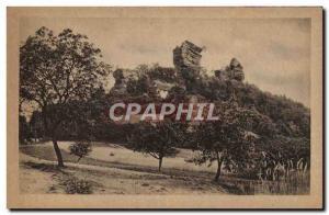 Ansichtskarte AK Niederbronn les Bains La Ruine du Windstein