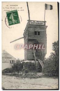 Ansichtskarte AK Moulin a vent Sannois Le vieux moulin Restaurant