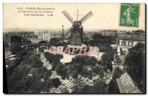 Ansichtskarte AK Moulin a vent Paris Montmartre Le Moulin de la Galette Vue generale
