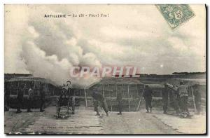 Ansichtskarte AK Militaria Artillerie Le 138 Piece Feu