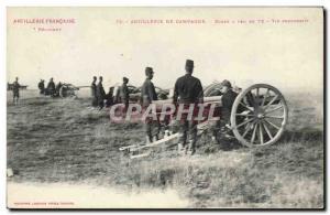 Ansichtskarte AK Militaria Artillerie de campagne Ecole a feu de 75 Tir progressif