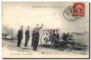 Ansichtskarte AK Militaria Artillerie Piece Feu