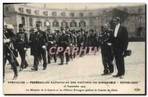 Ansichtskarte AK Versailles Funerailles nationales des victimes du Dirigeable Republique Caserne du Genie