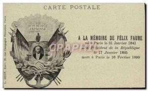 Ansichtskarte AK A la memoire de Felix Faure President de la Republique