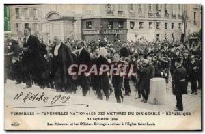 Ansichtskarte AK Versailles Funerailles nationales des victimes du Dirigeable Republique Eglise Saint Louis