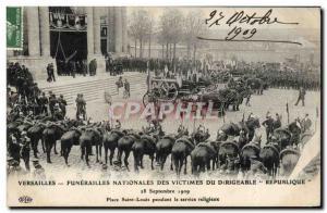 Ansichtskarte AK Versailles Funerailles nationales des victimes du Dirigeable Republique Place Saint Louis pendan