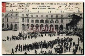 Ansichtskarte AK Versailles Funerailles nationales des victimes du Dirigeable Republique Caserne du 1er genie Le