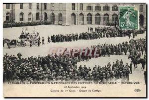 Ansichtskarte AK Versailles Funerailles nationales des victimes du Dirigeable Republique Caserne du 1er Genie Dep