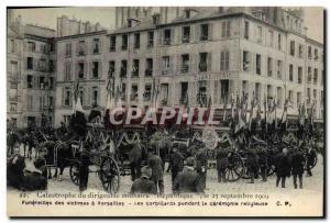 Ansichtskarte AK Catastrophe du dirigeable militaire Republique Funerailles des victimes a Versailles Les corbill