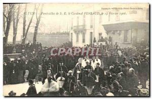 Ansichtskarte AK Autun Funerailes de St le cardinal Perraud 15 fevrier 1906